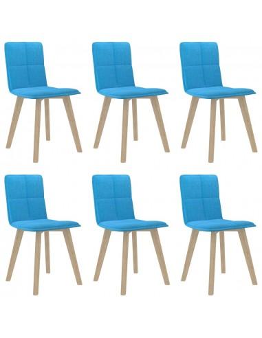 Valgomojo kėdės, 6vnt., mėlynos spalvos (289494+289504) | Virtuvės ir Valgomojo Kėdės | duodu.lt