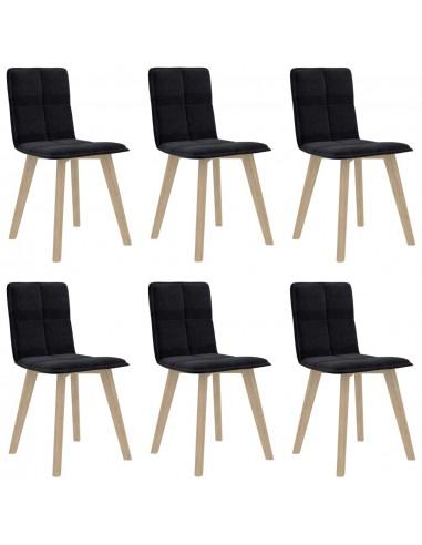 Valgomojo kėdės, 6vnt., juodos spalvos (289496+289506) | Virtuvės ir Valgomojo Kėdės | duodu.lt