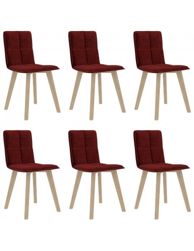 Valgomojo kėdės, 6vnt., raudonojo vyno spalvos (289498+289508) | Virtuvės ir Valgomojo Kėdės | duodu.lt