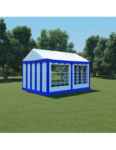 Sodo palapinė, mėlyna ir balta, 3x4m, PVC (310012+310013)   Tentai ir Pavėsinės   duodu.lt