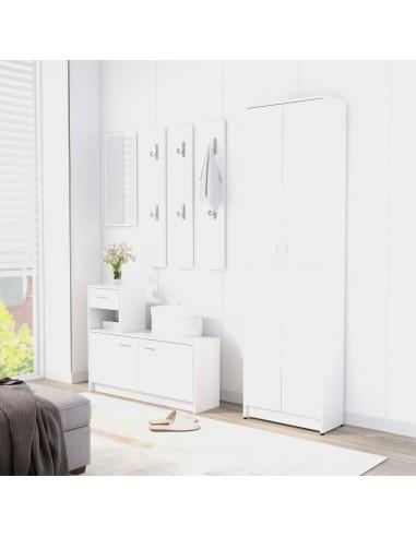 Koridoriaus baldų komplektas, baltas, MDP (802849+802840) | Drabužių spintos | duodu.lt