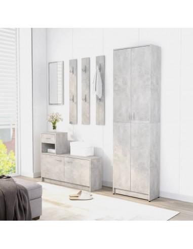 Koridoriaus baldų komplektas, betono pilkos spalvos, MDP   Drabužių spintos   duodu.lt