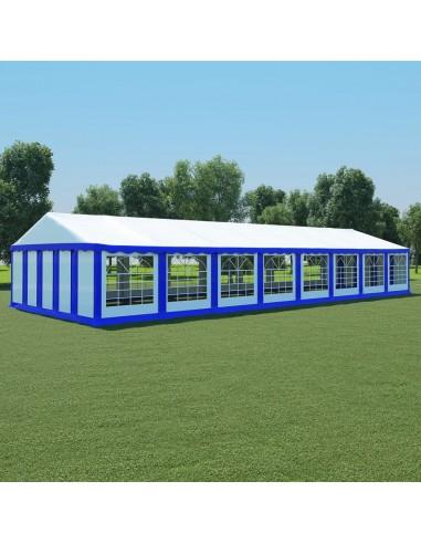 Sodo palapinė, mėlyna ir balta, 6x16m, PVC (310016+310017) | Tentai ir Pavėsinės | duodu.lt