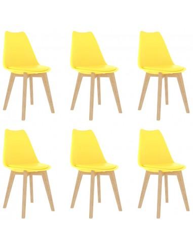 Valgomojo kėdės, 6vnt., geltonos, plastikas (289134+289135) | Virtuvės ir Valgomojo Kėdės | duodu.lt