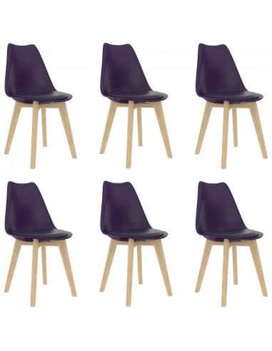 Valgomojo kėdės, 6vnt., alyvinės, plastikas (289138+289139)   Virtuvės ir Valgomojo Kėdės   duodu.lt