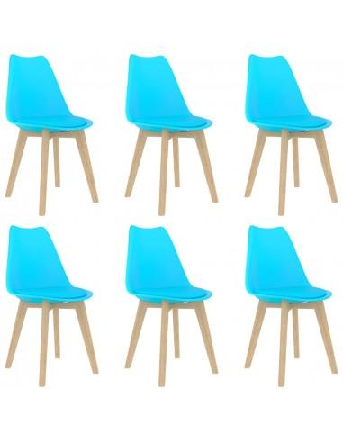Valgomojo kėdės, 6vnt., mėlynos, plastikas (289140+289141)   Virtuvės ir Valgomojo Kėdės   duodu.lt