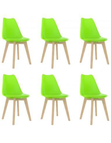 Valgomojo kėdės, 6vnt., žalios, plastikas (289142+289143)   Virtuvės ir Valgomojo Kėdės   duodu.lt