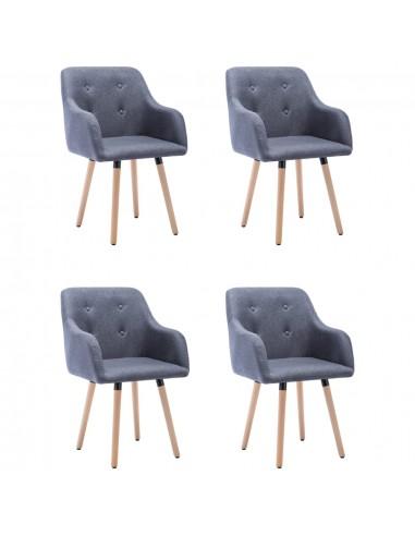 Valgomojo kėdės, 4vnt., šviesiai pilkos, audinys (2x322981) | Virtuvės ir Valgomojo Kėdės | duodu.lt