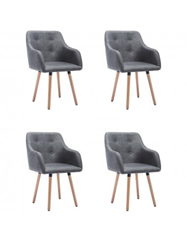Valgomojo kėdės, 4vnt., tamsiai pilkos, audinys (2x322982)    Virtuvės ir Valgomojo Kėdės   duodu.lt