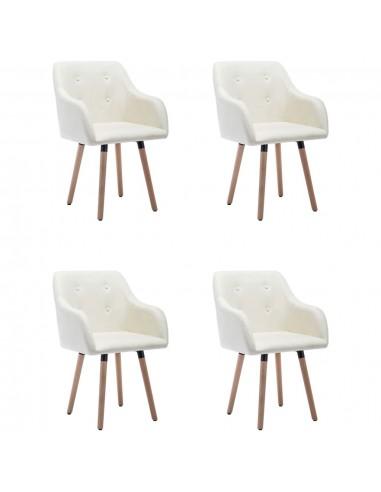 Valgomojo kėdės, 4vnt., kreminės spalvos, audinys (2x322983)   Virtuvės ir Valgomojo Kėdės   duodu.lt