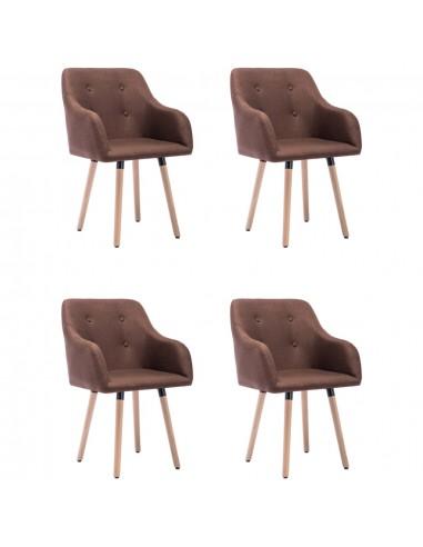 Valgomojo kėdės, 4vnt., rudos spalvos, audinys (2x322984) | Virtuvės ir Valgomojo Kėdės | duodu.lt