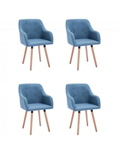 Valgomojo kėdės, 4vnt., mėlynos spalvos, audinys (2x322985)   Virtuvės ir Valgomojo Kėdės   duodu.lt
