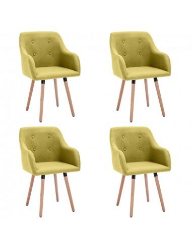 Valgomojo kėdės, 4vnt., žalios spalvos, audinys (2x322986)   Virtuvės ir Valgomojo Kėdės   duodu.lt