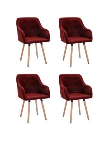 Valgomojo kėdės, 4vnt., vyno raudonos, audinys (2x322989) | Virtuvės ir Valgomojo Kėdės | duodu.lt