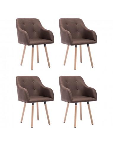 Valgomojo kėdės, 4vnt., taupe spalvos, audinys (2x322990)   Virtuvės ir Valgomojo Kėdės   duodu.lt