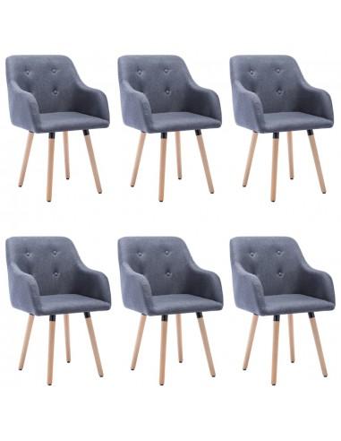 Valgomojo kėdės, 6vnt., šviesiai pilkos, audinys (3x322981)  | Virtuvės ir Valgomojo Kėdės | duodu.lt