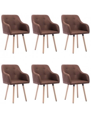 Valgomojo kėdės, 6vnt., rudos spalvos, audinys (3x322984) | Virtuvės ir Valgomojo Kėdės | duodu.lt