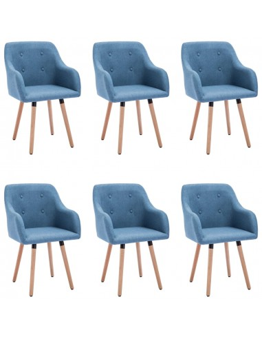 Valgomojo kėdės, 6vnt., mėlynos spalvos, audinys (3x322985) | Virtuvės ir Valgomojo Kėdės | duodu.lt