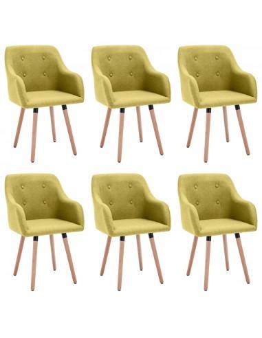 Valgomojo kėdės, 6vnt., žalios spalvos, audinys (3x322986) | Virtuvės ir Valgomojo Kėdės | duodu.lt