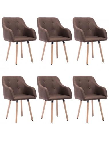 Valgomojo kėdės, 6vnt., taupe spalvos, audinys (3x322990) | Virtuvės ir Valgomojo Kėdės | duodu.lt