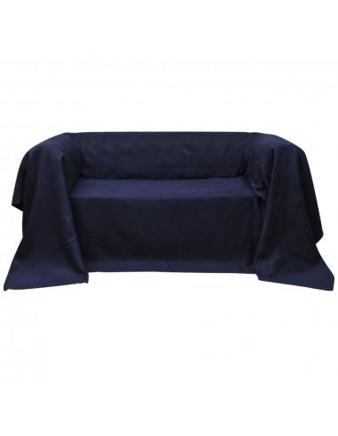 Sofos užvalkalas, mėlynas, mikro zomša 140 x 210 cm   Baldų Užvalkalai   duodu.lt