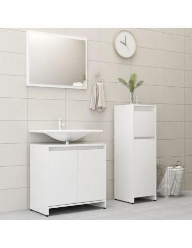 Vonios kambario baldų komplektas, 3 dalių, baltos spalvos, MDP   Vonios baldų komplektai   duodu.lt