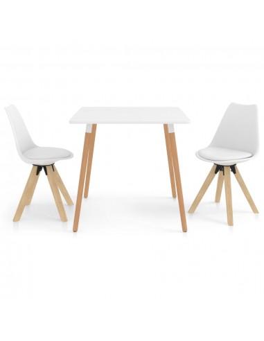 Valgomojo baldų komplektas, 3 dalių, baltas (287238+324221) | Virtuvės ir Valgomojo Baldų Komplektai | duodu.lt