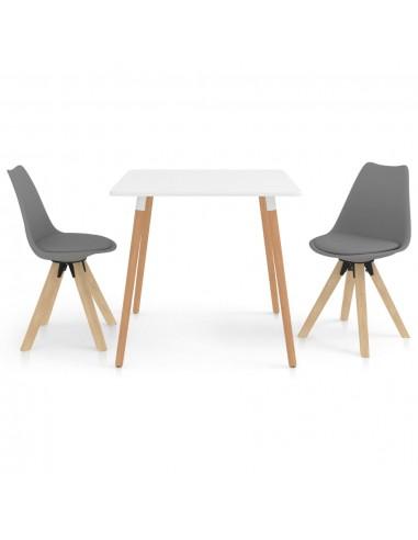Valgomojo baldų komplektas, 3 dalių, pilkas (287238+324223) | Virtuvės ir Valgomojo Baldų Komplektai | duodu.lt