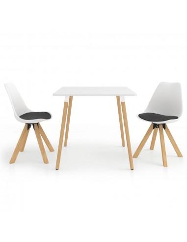 Valgomojo baldų komplektas, 3 dalių, juodos ir baltos spalvos   Virtuvės ir Valgomojo Baldų Komplektai   duodu.lt