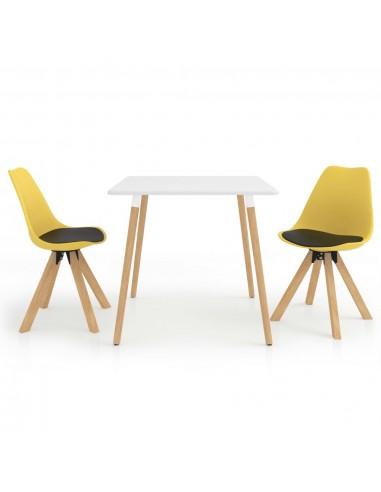 Valgomojo baldų komplektas, 3 dalių, juodos ir geltonos spalvos   Virtuvės ir Valgomojo Baldų Komplektai   duodu.lt