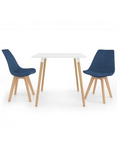 Valgomojo baldų komplektas, 3 dalių, mėlynas (287238+324161)   Virtuvės ir Valgomojo Baldų Komplektai   duodu.lt