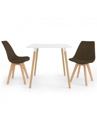 Valgomojo baldų komplektas, 3 dalių, rudas (287238+324163) | Virtuvės ir Valgomojo Baldų Komplektai | duodu.lt