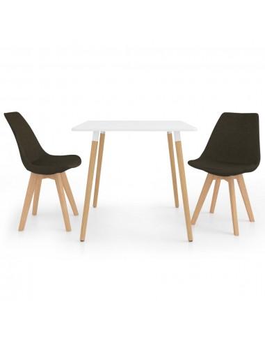 Valgomojo baldų komplektas, 3 dalių, rudas (287238+324165) | Virtuvės ir Valgomojo Baldų Komplektai | duodu.lt
