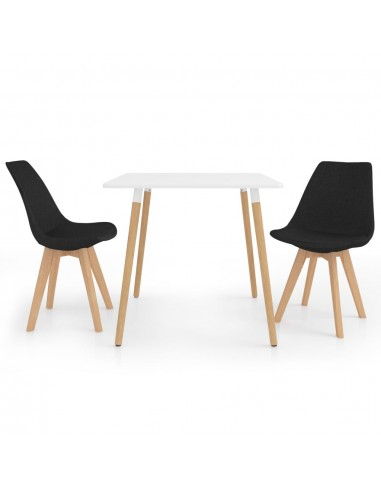 Valgomojo baldų komplektas, 3 dalių, juodas (287238+324167) | Virtuvės ir Valgomojo Baldų Komplektai | duodu.lt
