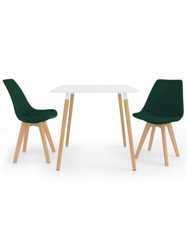 Valgomojo baldų komplektas, 3 dalių, žalias (287238+324171)   Virtuvės ir Valgomojo Baldų Komplektai   duodu.lt