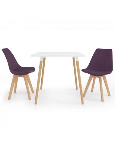 Valgomojo baldų komplektas, 3 dalių, violetinis (287238+324173) | Virtuvės ir Valgomojo Baldų Komplektai | duodu.lt