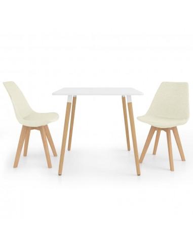 Valgomojo baldų komplektas, 3 dalių, kreminis (287238+324177) | Virtuvės ir Valgomojo Baldų Komplektai | duodu.lt