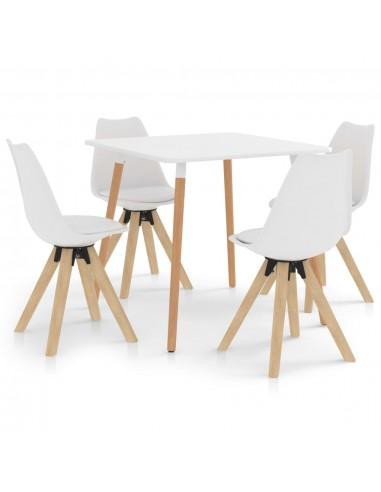 Valgomojo baldų komplektas, 5 dalių, baltas (287238+324222) | Virtuvės ir Valgomojo Baldų Komplektai | duodu.lt