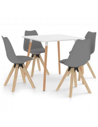 Valgomojo baldų komplektas, 5 dalių, pilkas (287238+324224) | Virtuvės ir Valgomojo Baldų Komplektai | duodu.lt