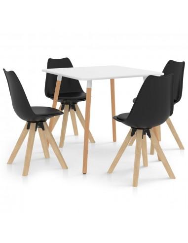 Valgomojo baldų komplektas, 5 dalių, juodas (287238+324226) | Virtuvės ir Valgomojo Baldų Komplektai | duodu.lt