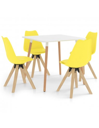Valgomojo komplektas, 5 dalių, geltonos spalvos   Virtuvės ir Valgomojo Baldų Komplektai   duodu.lt