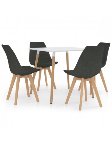 Valgomojo baldų komplektas, 5 dalių, pilkas (287238+324158) | Virtuvės ir Valgomojo Baldų Komplektai | duodu.lt