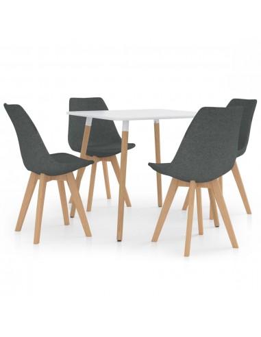 Valgomojo baldų komplektas, 5 dalių, pilkas (287238+324160) | Virtuvės ir Valgomojo Baldų Komplektai | duodu.lt
