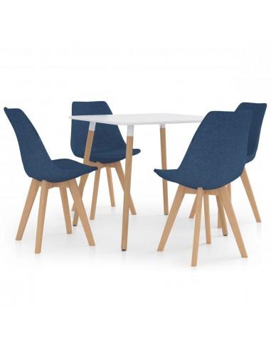 Valgomojo baldų komplektas, 5 dalių, mėlynas (287238+324162)   Virtuvės ir Valgomojo Baldų Komplektai   duodu.lt