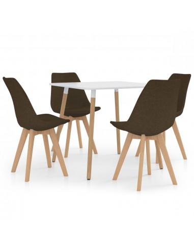 Valgomojo baldų komplektas, 5 dalių, rudas (287238+324164) | Virtuvės ir Valgomojo Baldų Komplektai | duodu.lt