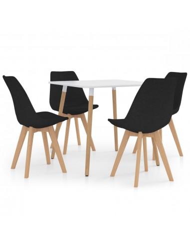 Valgomojo baldų komplektas, 5 dalių, juodas (287238+324168) | Virtuvės ir Valgomojo Baldų Komplektai | duodu.lt