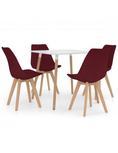 Valgomojo baldų komplektas, 5 dalių, vyno (287238+324170) | Virtuvės ir Valgomojo Baldų Komplektai | duodu.lt