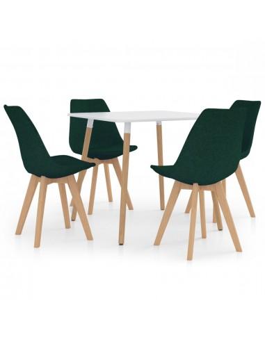 Valgomojo baldų komplektas, 5 dalių, žalias (287238+324172) | Virtuvės ir Valgomojo Baldų Komplektai | duodu.lt