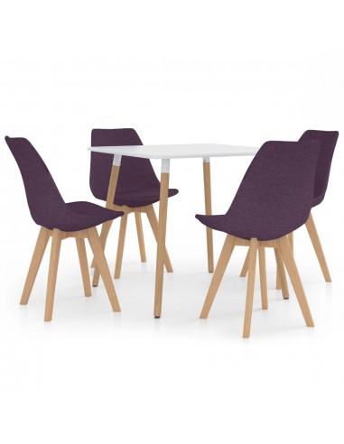 Valgomojo baldų komplektas, 5 dalių, violetinis (287238+324174) | Virtuvės ir Valgomojo Baldų Komplektai | duodu.lt