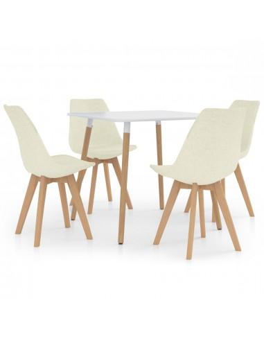 Valgomojo baldų komplektas, 5 dalių, kreminis (287238+324178) | Virtuvės ir Valgomojo Baldų Komplektai | duodu.lt